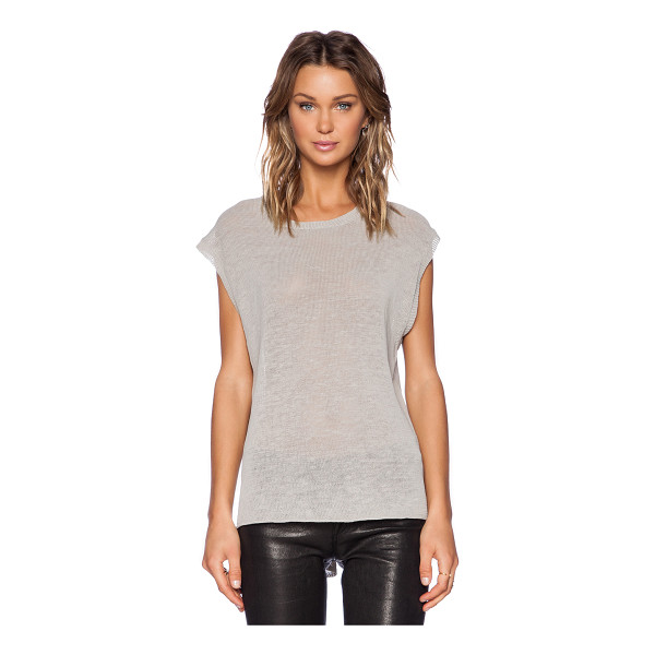 INHABIT Sleeveless crew neck sweater - Acrylic blend. Back cut-out. Asymmetric hem. INHA-WK129....