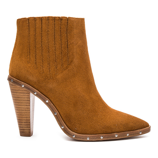 IRO Noliana Bootie - Suede upper with leather sole. Elasticized pull on styling....