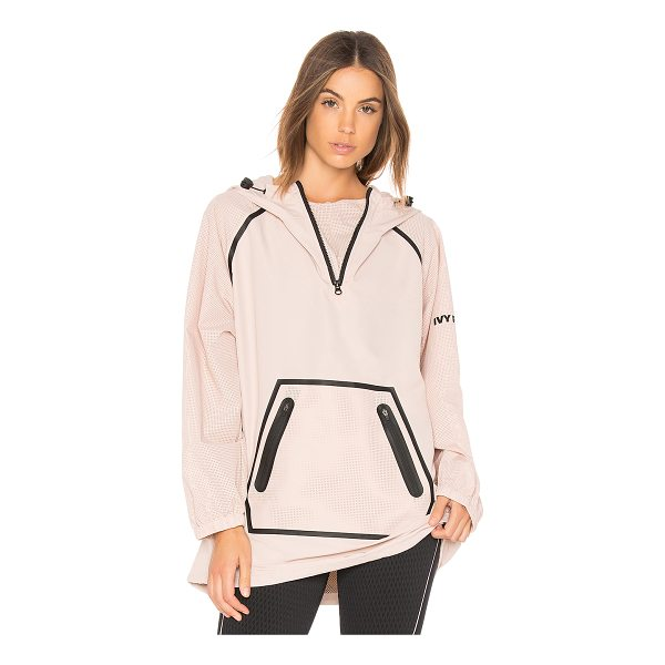 IVY PARK Mesh Sleeve Hoodie - Self & Contrast: 100% poly. Partial front zipper closure....
