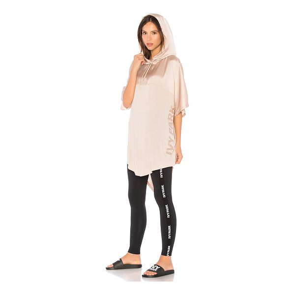 IVY PARK Satin Hooded Tee - Self: 52% viscose 48% polyContrast: 100% poly. Drawstring...