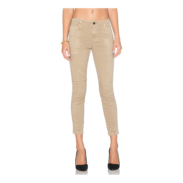 J BRAND Byrnes skinny cargo pant - 98% cotton 2% elastane. Side and back pockets. Knee dart...