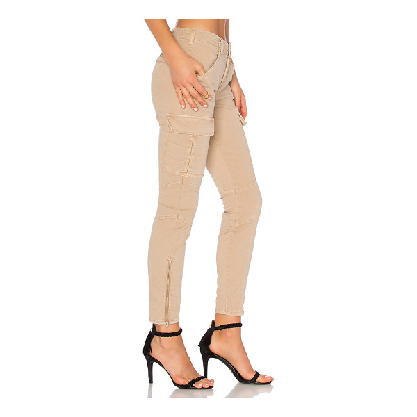 J BRAND Houlihan Mid Rise Cargo - 98% cotton 2% elastane. Side slant and buttoned flap...