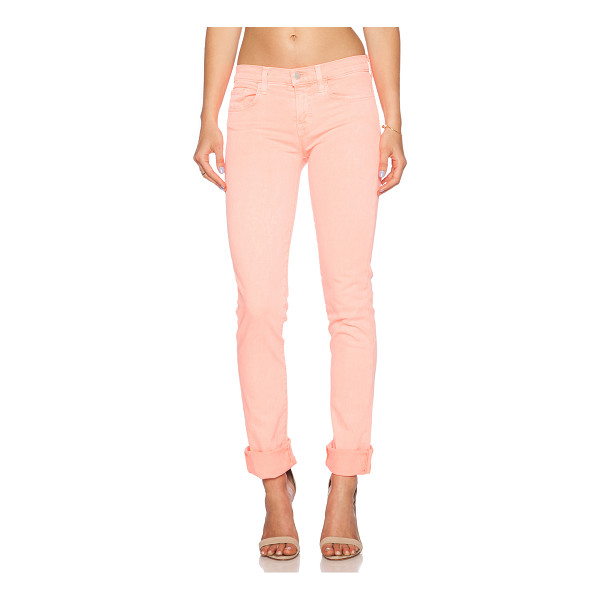 "J BRAND Jude skinny - 94% cotton 4% poly 2% elastane. 12"""" at the knee and 12""""..."