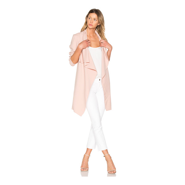 J. RYU Molly Coat - 79% poly 17% rayon 4% polyurethane. Dry clean only. Draped...