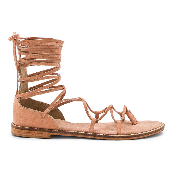 JAGGAR Pave Sandal - Leather upper with man made sole. Lace-up front with wrap...