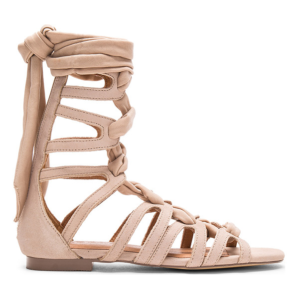 JAGGAR Zigzag Turns Sandal - Leather upper with man made sole. Textile lace-up front...