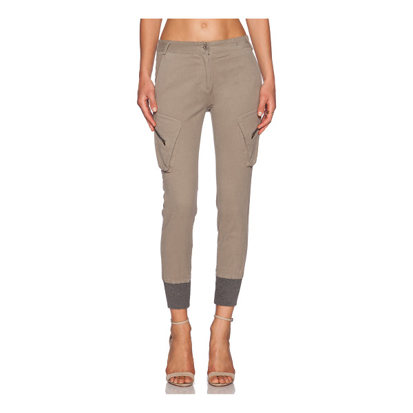 """JAMES JEANS Boyfriend slouchy fit utility cargo - 97% poly 3% spandex. 14"""""""" in the knee narrows to 8"""""""" at the..."""
