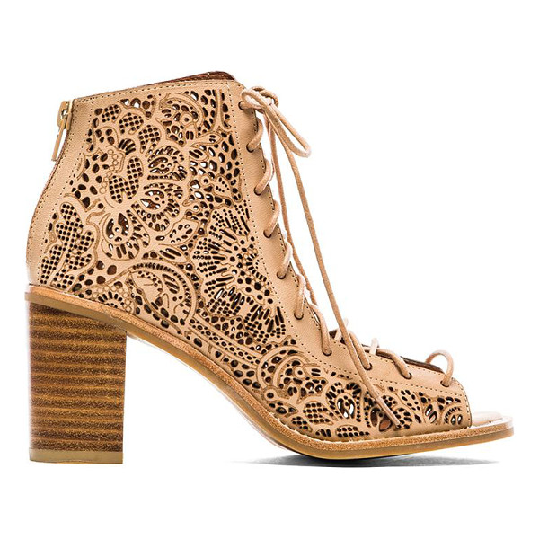 "JEFFREY CAMPBELL Cors lace up sandal - Leather upper with man made sole. Heel measures approx 3""""..."