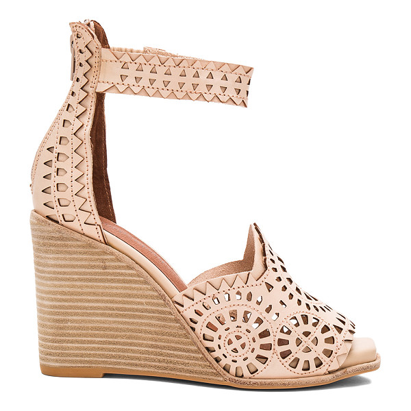 JEFFREY CAMPBELL Del Sol H Wedge - Leather upper with man made sole. Back zip closure. Cut-out...