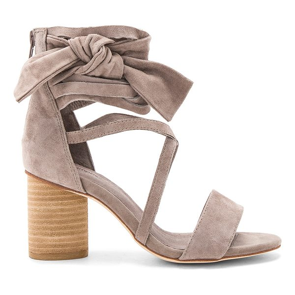 "JEFFREY CAMPBELL Destini Sandals - ""Suede upper with man made sole. Back zip closure. Wrap..."