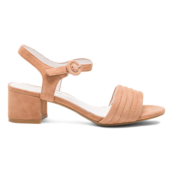 JEFFREY CAMPBELL Faye Heel - Suede upper with man made sole. Ankle strap with buckle