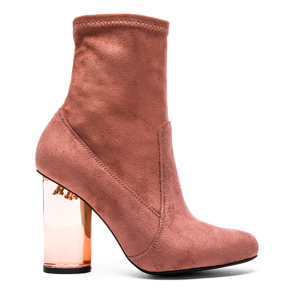 JEFFREY CAMPBELL Lucine lo booties - Suede textile upper with rubber sole. Side zip closure....