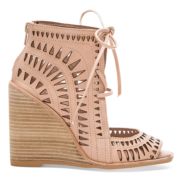 "JEFFREY CAMPBELL Rodillo hi wedge - Leather upper with man made sole. Wedge measures approx 4""""..."