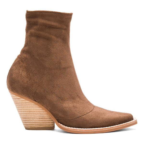 JEFFREY CAMPBELL Walton Booties - Faux suede upper with man made sole. Side zip closure. Heel...