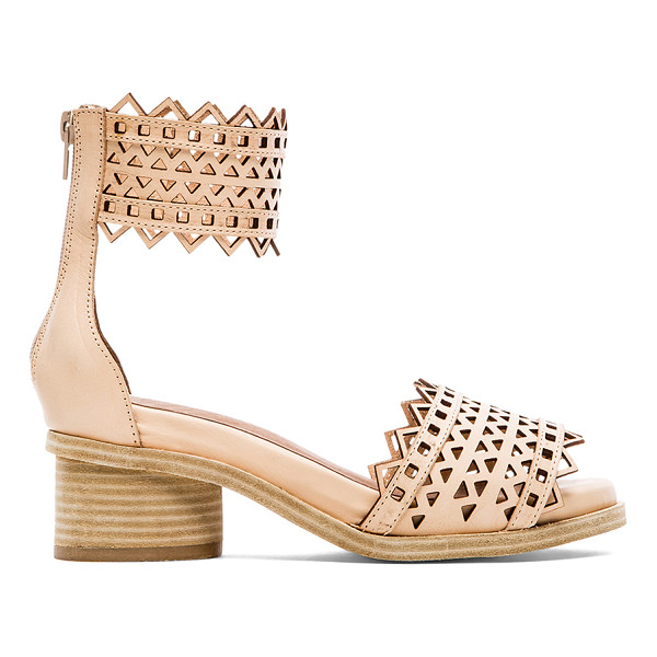 """JEFFREY CAMPBELL X revolve borgia sandal - Leather upper with man made sole. Heel measures approx 2""""""""..."""