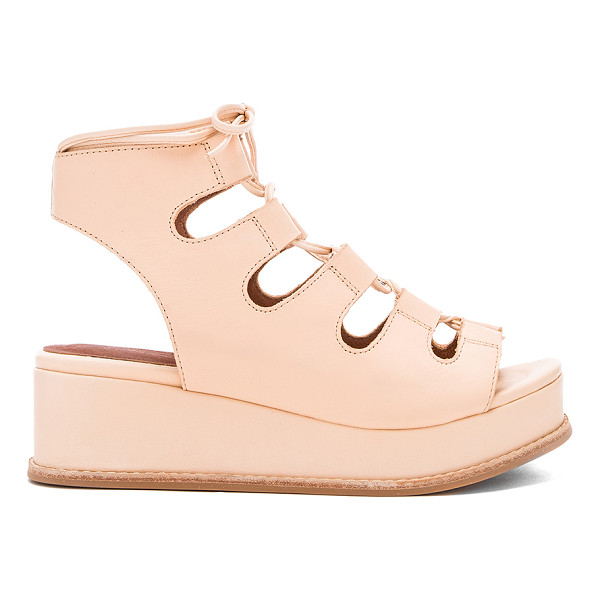 JEFFREY CAMPBELL Ximeno sandal - Leather upper with rubber sole. Lace-up front with wrap tie...