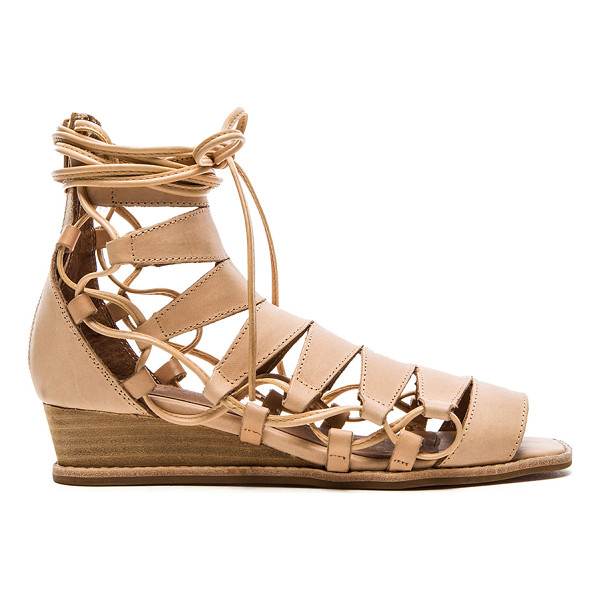 "JEFFREY CAMPBELL Zaferia sandal - Leather upper with man made sole. Wedge measures approx 1""""..."