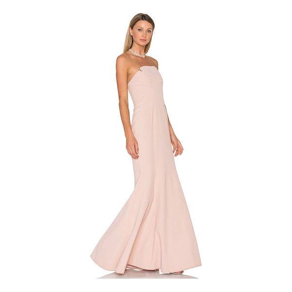 JILL JILL STUART Strapless Gown - Poly blend. Dry clean only. Fully lined. Internal bustier....