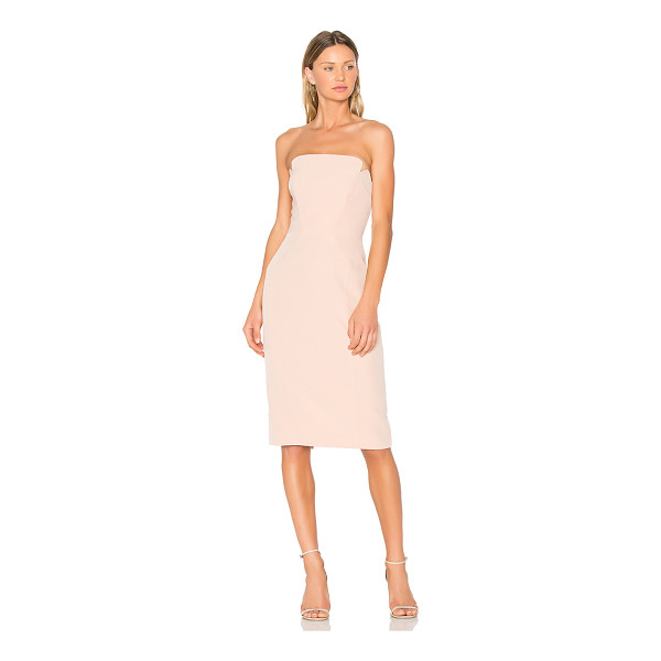 "JILL JILL STUART Strapless Midi Dress - ""Poly blend. Dry clean only. Fully lined. Plastic bodice..."