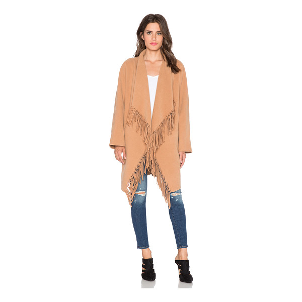 J.O.A. Cascade fringe coat - Self: 90% poly 10% viscoseContrast: 100% poly. Dry clean...