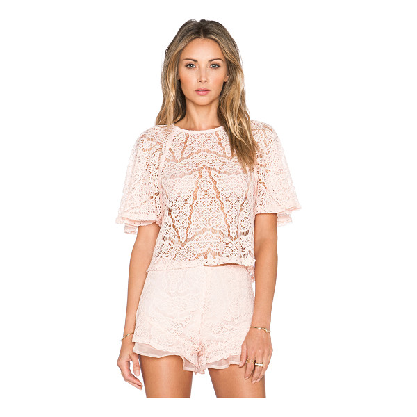 J.O.A. Lace top - Self: 85% nylon 15% polyCombo: 100% poly. Dry clean only....