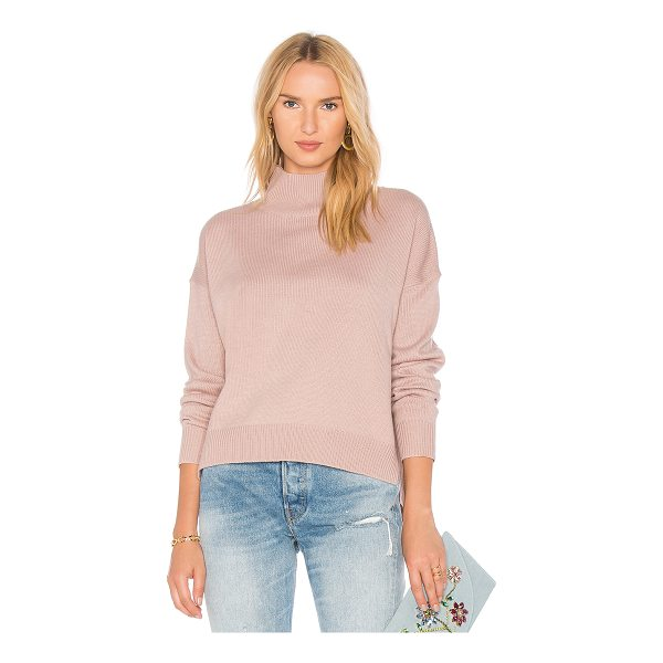 J.O.A. Oversized Turtleneck Knit - 100% acrylic. Dry clean only. Knit fabric. Rib knit edges....