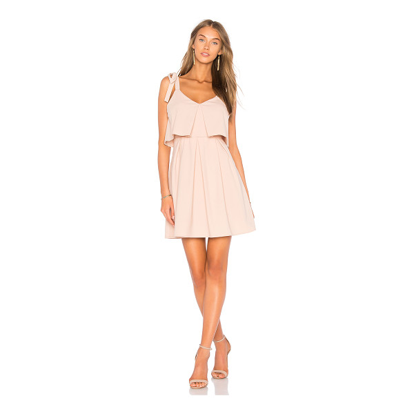 J.O.A. Ribbon Tie Flare Dress - Self & Lining: 100% poly. Fully lined. Shoulder tie...