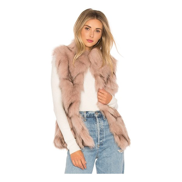 JOCELYN Fox Fur Sections Vest With Collar - Fur: 100% real dyed fox furLining: 100% poly. Professional...