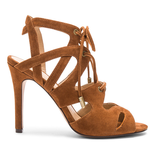JOE'S JEANS Calven Heel - Suede upper with man made sole. Lace-up front with tie...