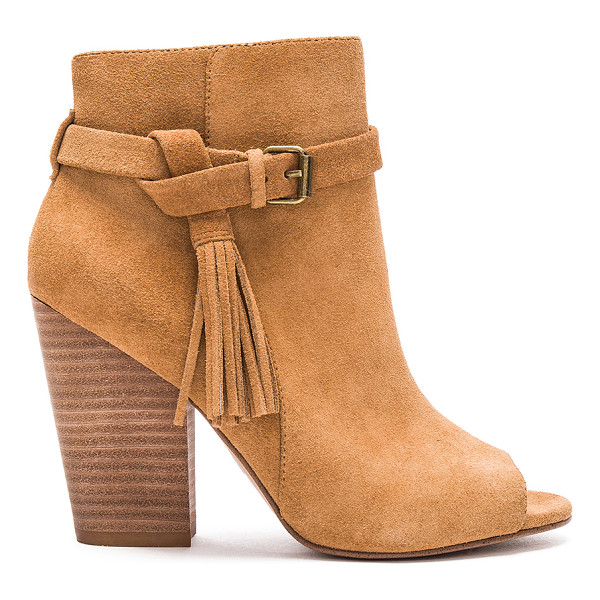 JOE'S JEANS Celina Bootie - Suede upper with man made sole. Side zip closure. Fringed