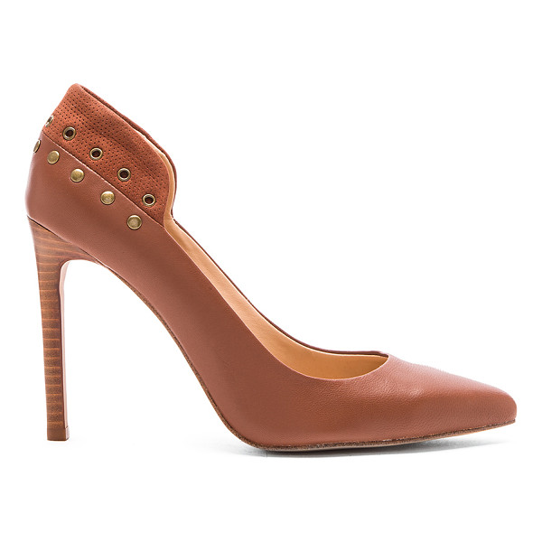 JOE'S JEANS Dorian heel - Leather upper with man made sole. Grommet and stud accents....