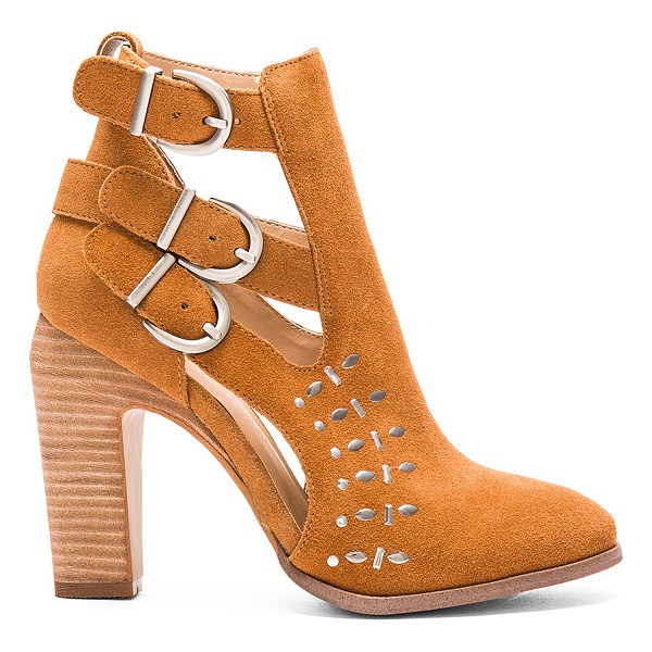 JOE'S JEANS Kicks Bootie - Suede upper with man made sole. Ankle straps with buckle...