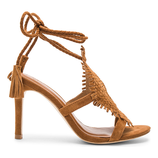 JOIE Ady Heel - Suede upper with leather sole. Braided wrap ankle with...