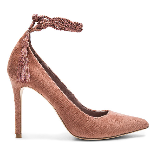 JOIE Angelynn Heel - Velvet fabric upper with leather sole. Wrap ankle with