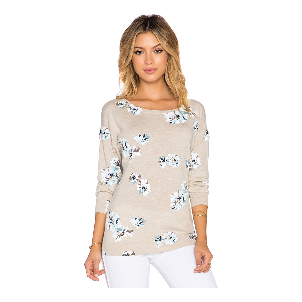 JOIE Eloisa b floral sweater - 35% viscose 25% wool 20% nylon 20% poly. Hand wash cold....