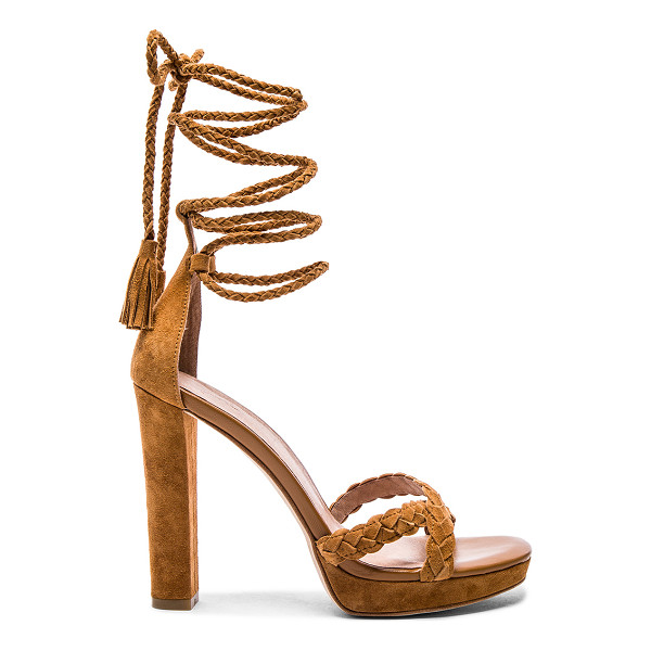 JOIE Flo heel - Suede upper with leather sole. Braided leather straps....