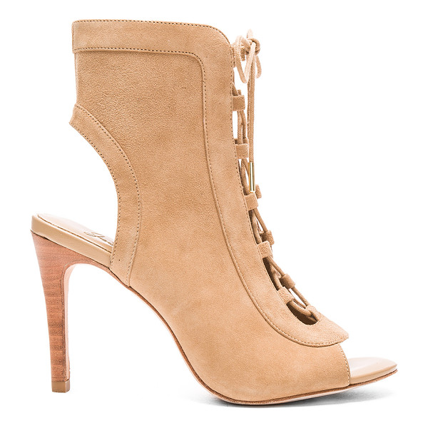 JOIE Freya bootie - Suede upper with leather sole. Lace-up front with tie...