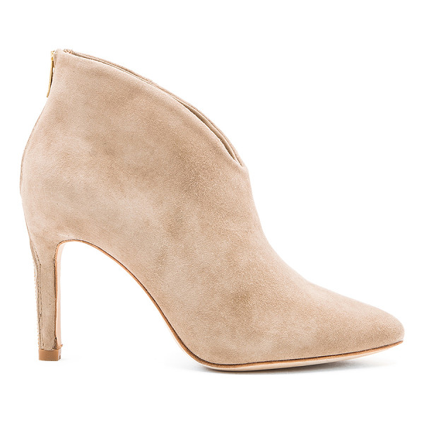 "JOIE Jadyn bootie - Suede upper with leather sole. Heel measures approx 3.5""""..."