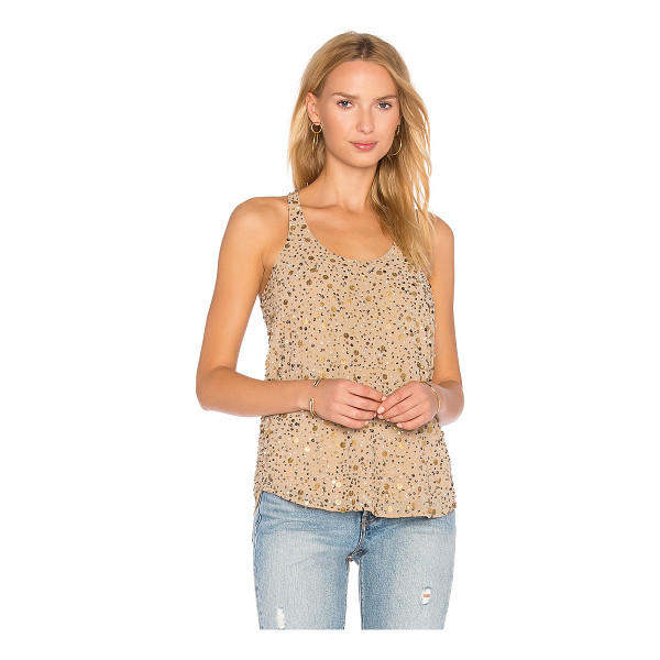 JOIE Jordanne Tank - 100% poly. Dry clean only. Sequined throughout. Curved hem....