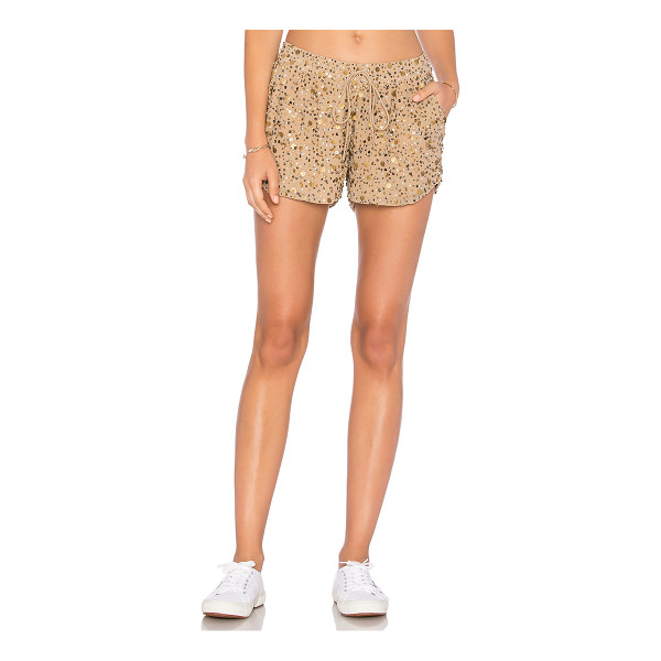 "JOIE Joselle Short - ""100% poly. Dry clean only. Elasticized drawstring waist...."