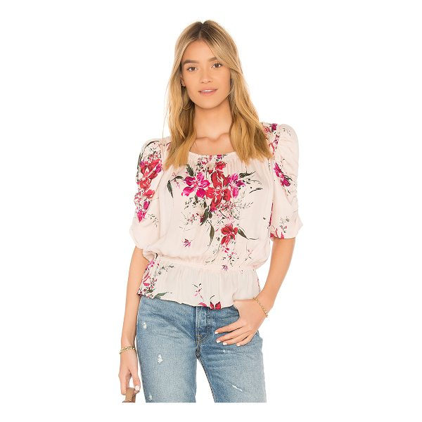 JOIE Kennon Top - Silk blend. Dry clean only. Elasticized neckline and hem....