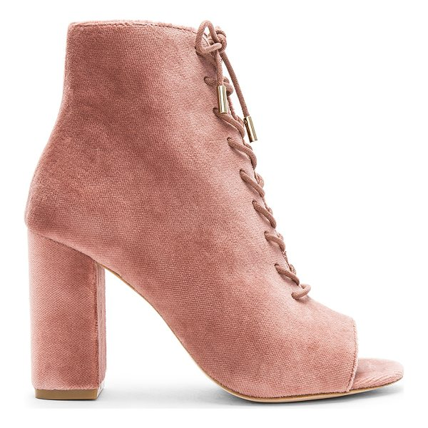 "JOIE Lakia Bootie - ""Velvet textile upper with leather sole. Side zip closure...."