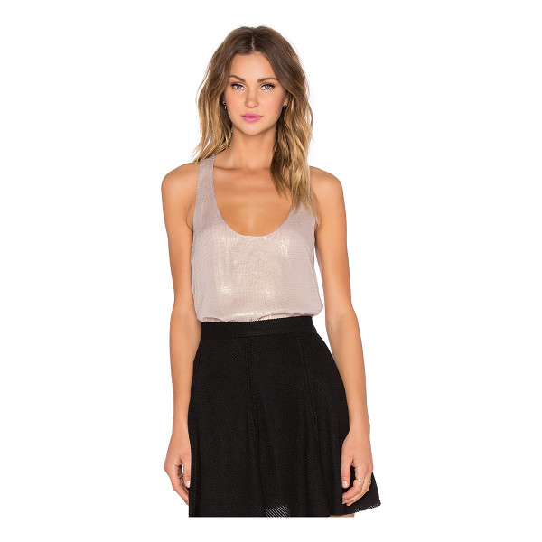 JOIE Mirla tank - Silk blend. Dry clean only. Metallic accent throughout....