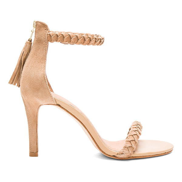 JOIE Nia heel - Suede upper with leather sole. Back zip detail and closure...