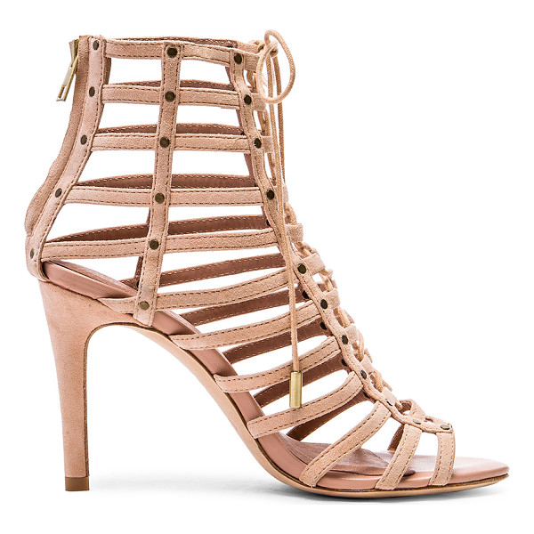 JOIE Rhoda - Leather upper and sole. Caged cut-out detail. Lace-up...