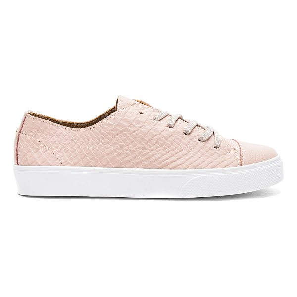KAANAS Atacama Fashion Sneaker - Embossed leather upper with rubber sole. Lace-up front....