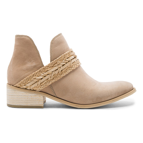 KAANAS Ra Booties - Leather upper with man made sole. Pull on styling. Woven...