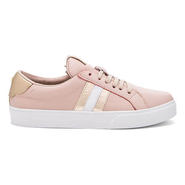 KAANAS Tatacoa sneaker - Leather upper with rubber sole. Lace-up front. Metallic...