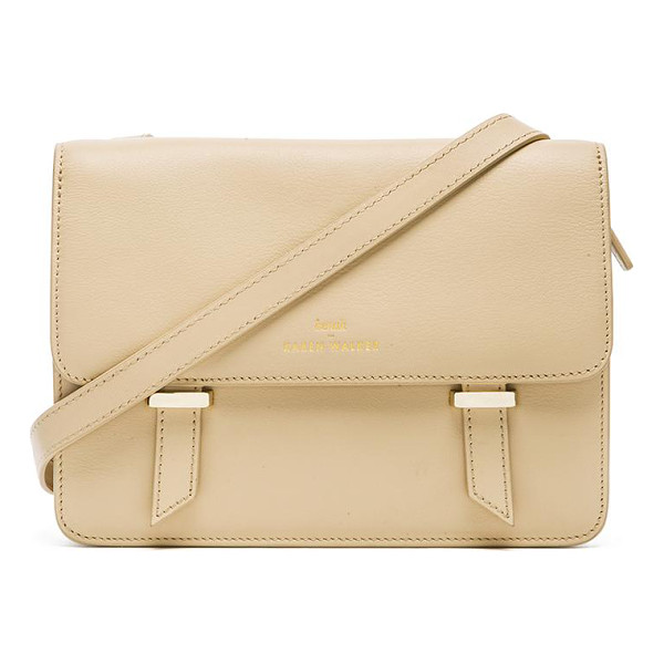 KAREN WALKER Sloane satchel - Leather exterior with printed fabric lining. Measures...