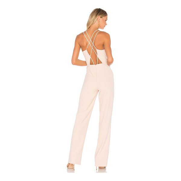 "KARINA GRIMALDI Anahi Cut Out Jumpsuit - ""Self: 98% poly 8% spandexLining: 100% poly. Dry clean..."